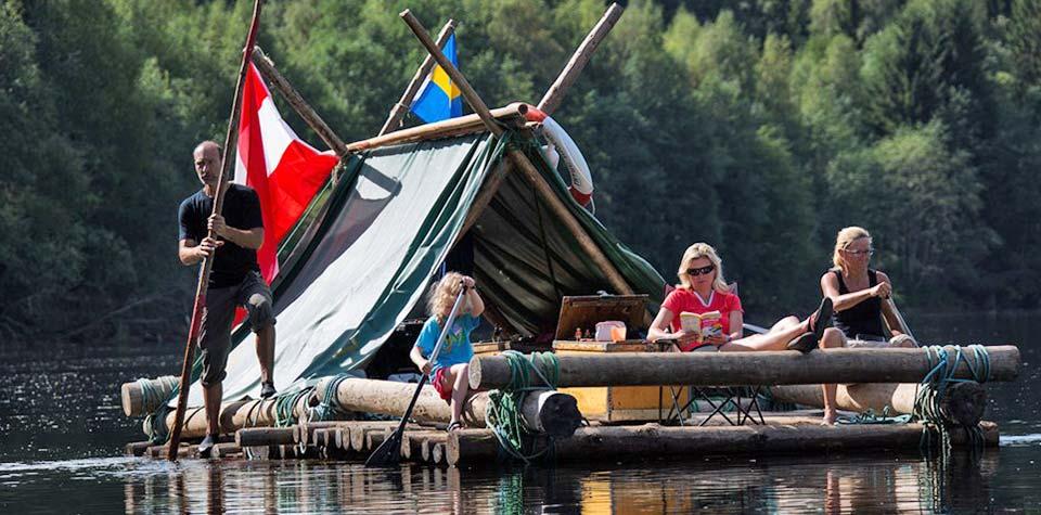 Att se och göra - Timmerflotte på Klarälven